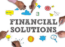 FINANCIAL SOLUTIONS Royalty Free Stock Images