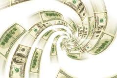 Financial spiral. Royalty Free Stock Photos