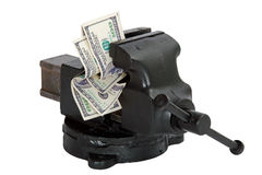 Financial squeeze Stock Images