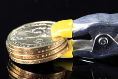 Financial Squeeze Credit Crunch Stock Photos