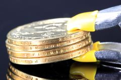 Financial Squeeze Credit Crunch Royalty Free Stock Photos