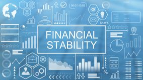 Financial stability, animated typography