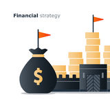 Financial stability concept, budgeting and management, strong economy Royalty Free Stock Image