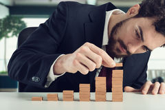 Financial staircase Stock Photography