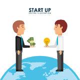 Financial start up Royalty Free Stock Photography