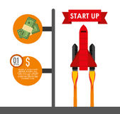 Financial start up. Design, vector illustration eps10 graphic Royalty Free Stock Photography