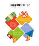 Financial start up Stock Photo