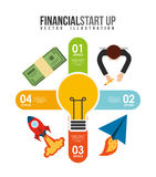 Financial start up. Design, vector illustration eps10 graphic Stock Photos