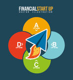 Financial start up. Design, vector illustration eps10 graphic Royalty Free Stock Photo