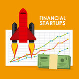 Financial startup. Design, vector illustration eps10 graphic Royalty Free Stock Photos