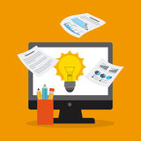 Financial startup. Design, vector illustration graphic Stock Photo