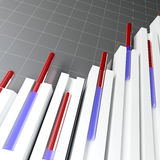Financial stat. Fine 3d image of stat graph financial background Royalty Free Stock Images