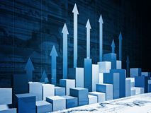 Financial stat. Fine 3d image of financial business chart Royalty Free Stock Images