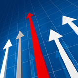 Financial stat. Large image 3d of financial arrow stat Stock Photo