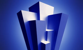 Financial stat. Blue abstract financial stat background Stock Photography