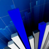 Financial stat. Financial graph background with arrows Stock Images