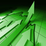 Financial stat arrows Stock Images