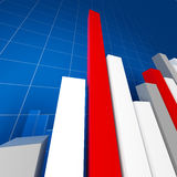 Financial stat background. Large image 3d of financial stat Royalty Free Stock Image