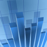 Financial stat background. Blue financial stat graph background Royalty Free Stock Photo