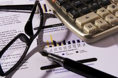 Financial Statement Stock Image