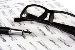 Financial Statement stock photo
