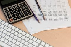 Financial statement accounting analysis concept stock images