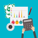 Financial Statement, vector. Financial Statement, design flat style, Vector illustration. EPS 10 Royalty Free Stock Image