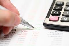 Financial statements Royalty Free Stock Photos