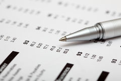 Financial statements Royalty Free Stock Images