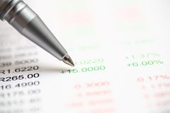 Financial statements Stock Image