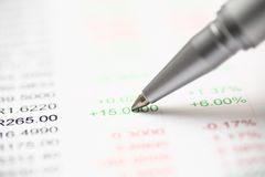 Financial statements Royalty Free Stock Photography