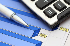 Financial statements (Business Graph) Royalty Free Stock Images