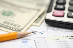 Financial statements Royalty Free Stock Image