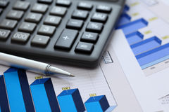 Financial statements (Business Graph or Stock Market Data) Stock Photo