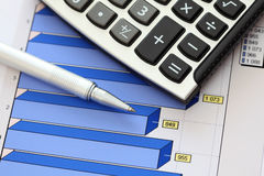Financial statements (Business Graph or Stock Market Data) Stock Images