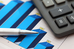 Financial statements (Business Graph or Stock Market Data) Royalty Free Stock Images