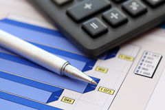 Financial statements (Business Graph or Stock Market Data) Royalty Free Stock Photo