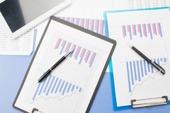 Financial statements Stock Images