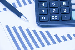 Financial statements Stock Photography