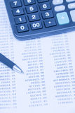 Financial statements Royalty Free Stock Photo