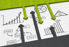 Financial statistics background Stock Photography