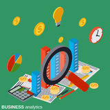 Financial statistics, business analytics, market trends analysis Royalty Free Stock Image