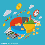 Financial statistics, business infographic, business report vector concept Royalty Free Stock Images