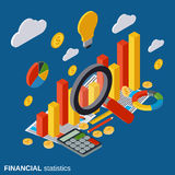 Financial statistics, business report, market statistics vector concept. Financial statistics, business report, modern infographic, market statistics, financial Royalty Free Stock Images