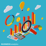 Financial statistics, business report, market statistics vector concept Stock Images