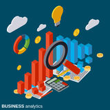 Financial statistics, business report, modern infographic vector concept Stock Photography