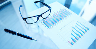 Financial statistics Stock Images