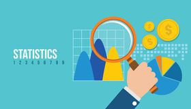 Financial statistics report graph. Vector illustration concept design Royalty Free Stock Images
