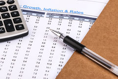 Financial statistics and report Royalty Free Stock Image