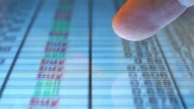 Financial Statistics On Screen stock video